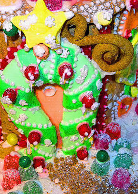 Candy Digital Art - Christmas Yummies by Mindy Newman
