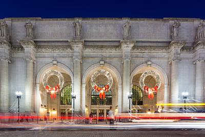 Christmastime At Union Station Art Print by Robert Davis