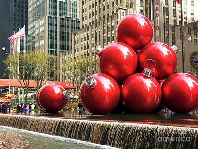 Photograph - Christmastime In New York City by John Rizzuto
