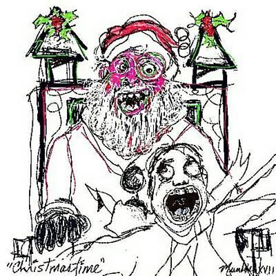 Drawing - Christmastime by John Stillmunks