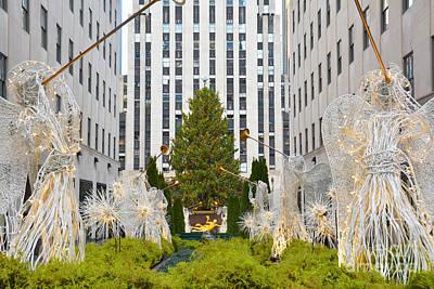 Beach House Signs - Christmas Tree Rockefeller Center Mall  by Regina Geoghan
