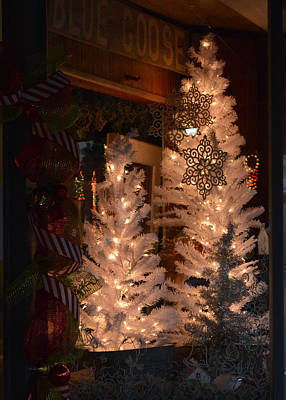 Photograph - Christmas Came To The Store Window by rd Erickson