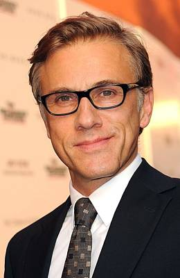 At Arrivals Photograph - Christoph Waltz At Arrivals by Everett