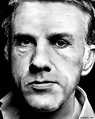 Drawing - Christoph Waltz by Rick Fortson