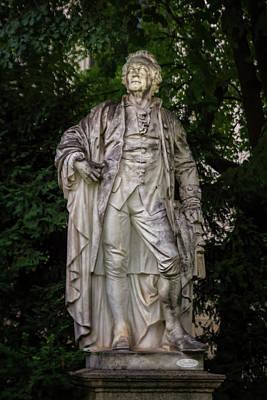 Ritter Park Photograph - Christoph Willibald Ritter Von Gluck Statue, Vienna, Austria by Elenarts - Elena Duvernay photo
