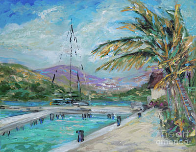 Painting - Christophe Harbour Marina by Linda Olsen