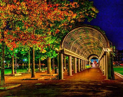 Photograph - Christopher Columbus Park 3766 by Jeff Stallard