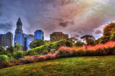 Photograph - Christopher Columbus Park - North End Boston by Joann Vitali