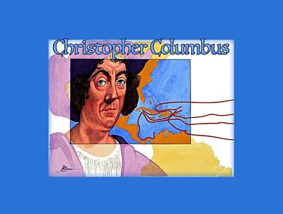 Painting - Christopher Columbus Shirt by John D Benson