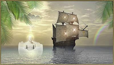 Digital Art - Christopher Columbus Suite by Harald Dastis
