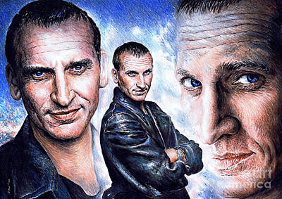 Christopher Eccleston Art Print by Andrew Read