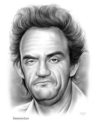 Brown Snake Drawing - Christopher Lloyd by Greg Joens