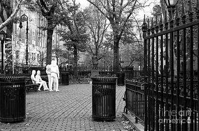 Greenwich Village Photograph - Christopher Park by John Rizzuto