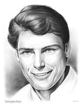 Superman Wall Art - Drawing - Christopher Reeve by Greg Joens
