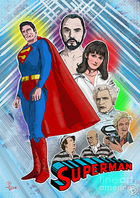 Christopher Reeve's Superman Art Print by Joseph Burke