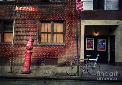 Art Print featuring the photograph Christopher St. Bicycle by Craig J Satterlee