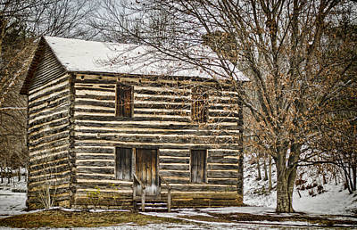 Old Wood Cabin Photograph - Christopher Taylor House by Heather Applegate