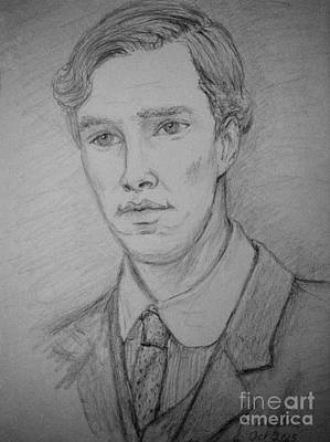 Film Series Drawing - Christopher Tietjens by Joan-Violet Stretch