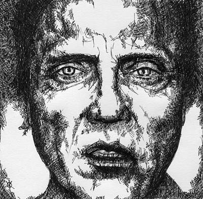 Soulful Eyes Drawing - Christopher Walken by KM Paintings