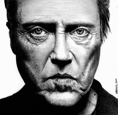 Drawing - Christopher Walken by Rick Fortson