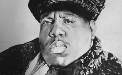 Hip Drawing - Christopher Wallace by Sanj Aujla
