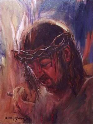 Horrific Painting - Christ's Death by Beverly Klucher