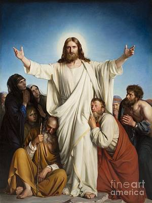 Christus Consolator Art Print by MotionAge Designs