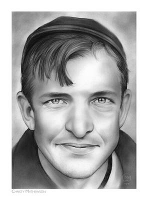 League Drawing - Christy Mathewson by Greg Joens