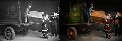 Police Art Photograph - Chritstmas - How Santa Ruined Christmas 1924 - Side By Side by Mike Savad