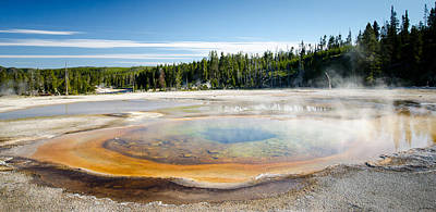 Photograph - Chromatic Pool Geyser by Crystal Wightman
