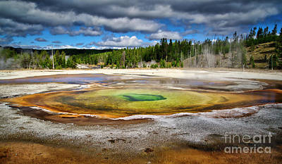 Photograph - Chromatic Pool In Yellowstone by Bruce Block