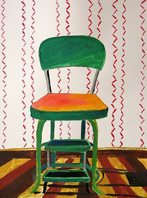 Stepstools Painting - Chrome And Parquet by John Williams