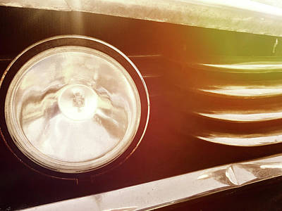 Photograph - Chrome Grill And Headlight by Kelly Hazel