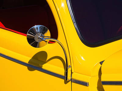 Photograph - Chrome Mirrored To Yellow by Gary Karlsen