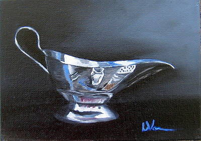 Painting - Chrome Reflections by LaVonne Hand