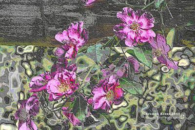 Digital Art - Chrome Roses 2666 by Brian Gryphon