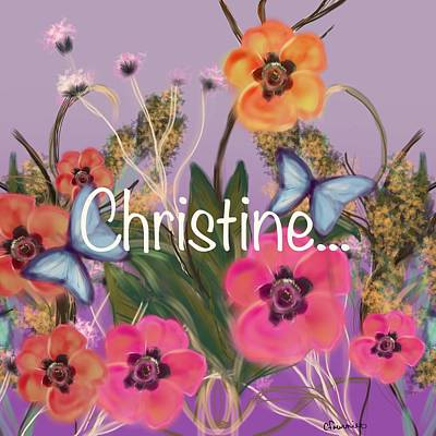 Painting - Christine by Christine Fournier