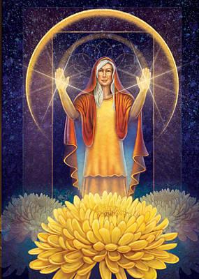 Chrysanthemum - Light In The Darkness Art Print