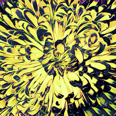 Mixed Media - Chrysanthemum Pop by Susan Maxwell Schmidt