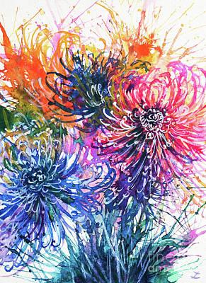Painting - Chrysanthemum Splash by Zaira Dzhaubaeva