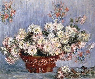 Painting - Chrysanthemums, 1878  by Claude Monet