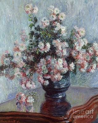 Chrysanthemums, 1882 Art Print by Claude Monet