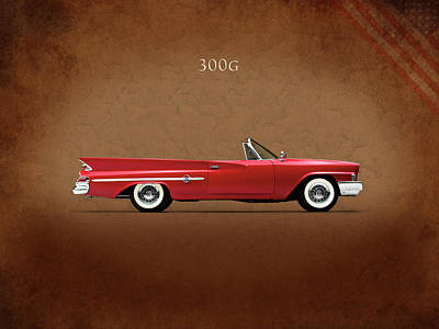 American Cars Photograph - Chrysler 300g 1961 by Mark Rogan
