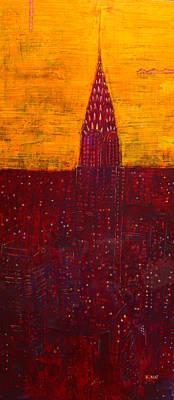 Painting - Chrysler At Dawn by Habib Ayat