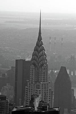Photograph - Chrysler Building 01 Bw - New York by Pamela Critchlow