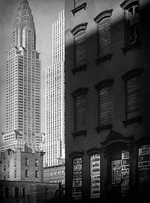 Black Photograph - Chrysler Building 1930's by Visions of History