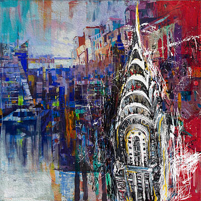 Chrysler Building Painting - Chrysler Building 205 1 by Mawra Tahreem