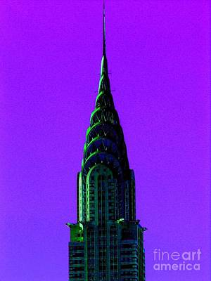 Photograph - Chrysler Building Abstract by Jacqueline M Lewis