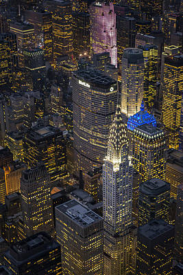 Lights Photograph - Chrysler Building Aerial View by Susan Candelario