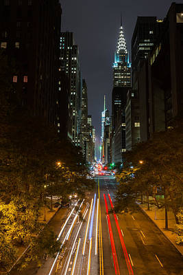 Photograph - Chrysler Building At Night by Chris McKenna